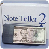 Note teller for visually impaired