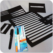 large print pens and templates